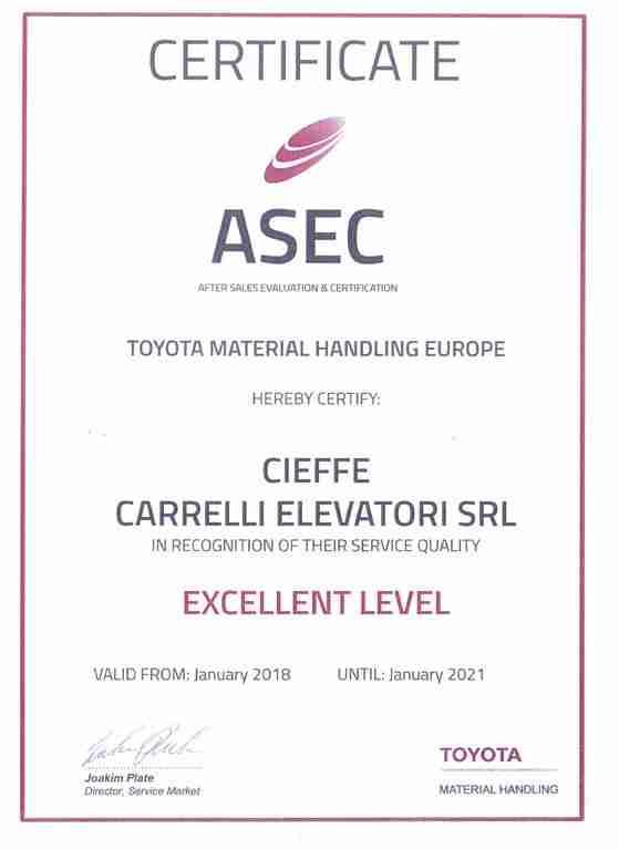 Certificato di valutazione dopo vendita