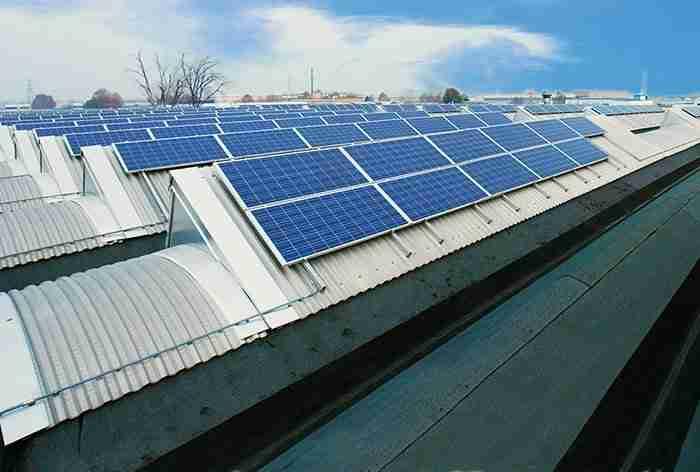 l'impianto fotovoltaico della sede di Grugliasco